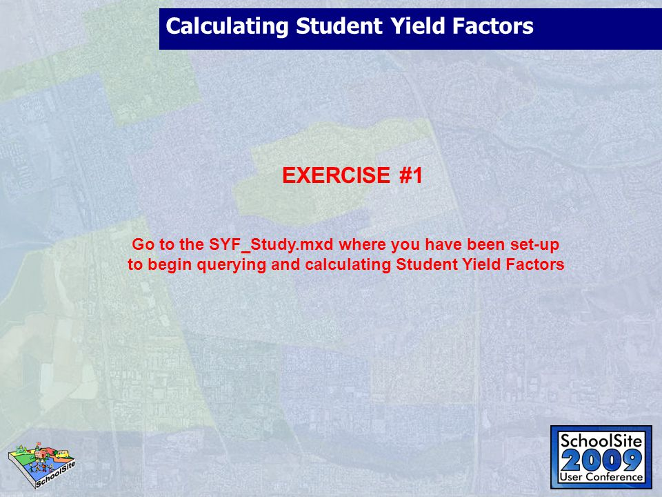 Calculating the Mobility Factors ISSUES TO ADDRESS Do I have student data at the study area level.