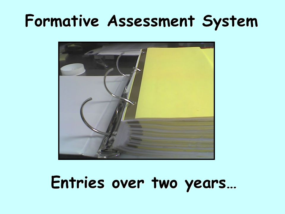 Formative Assessment System Entries over two years…
