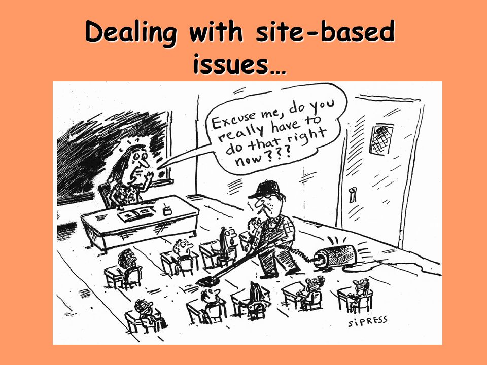 Dealing with site-based issues…