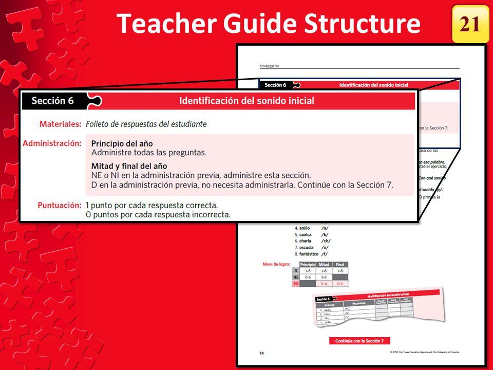 Teacher Guide Structure 21