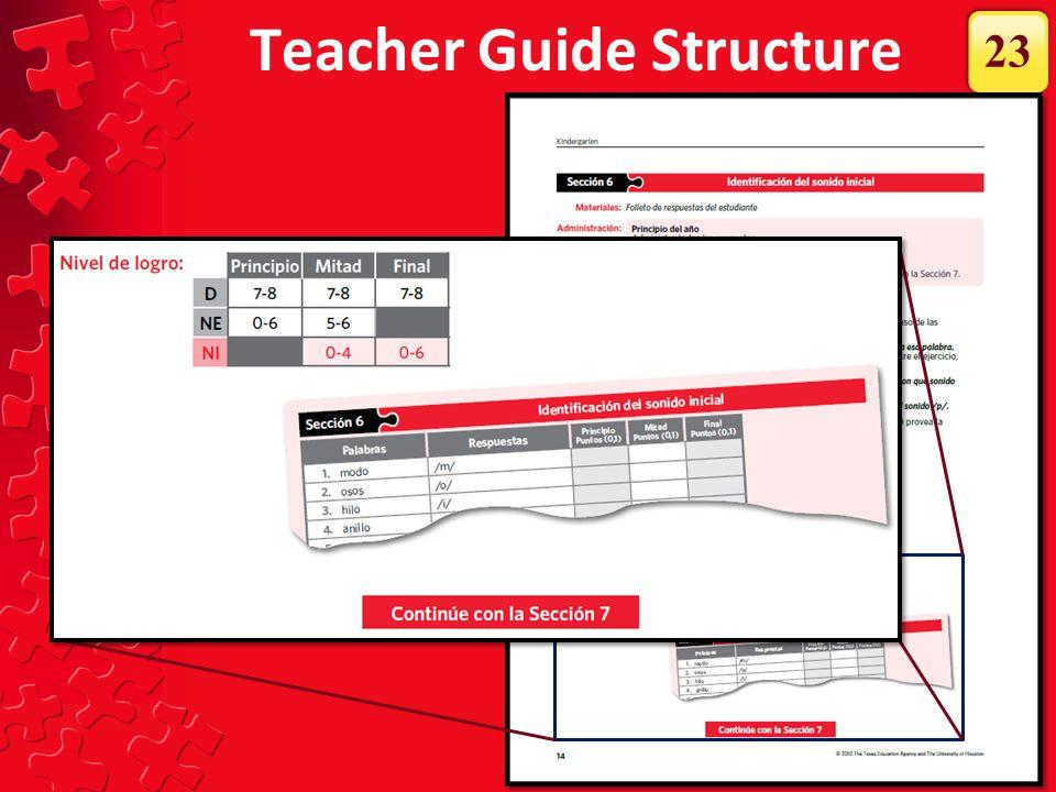 Teacher Guide Structure 23