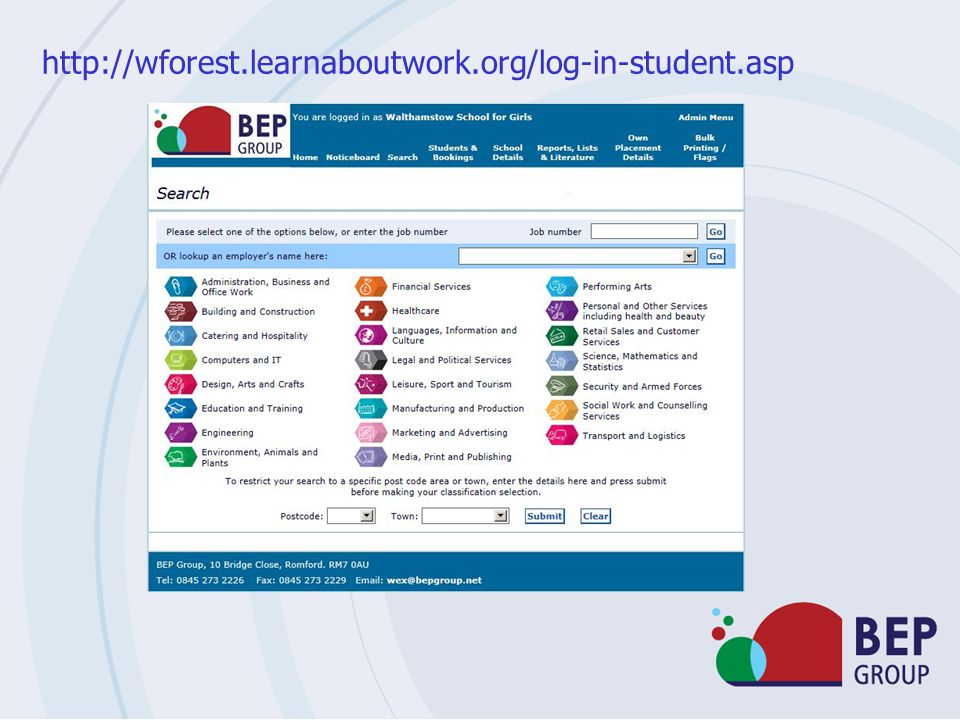 http://wforest.learnaboutwork.org/log-in-student.asp
