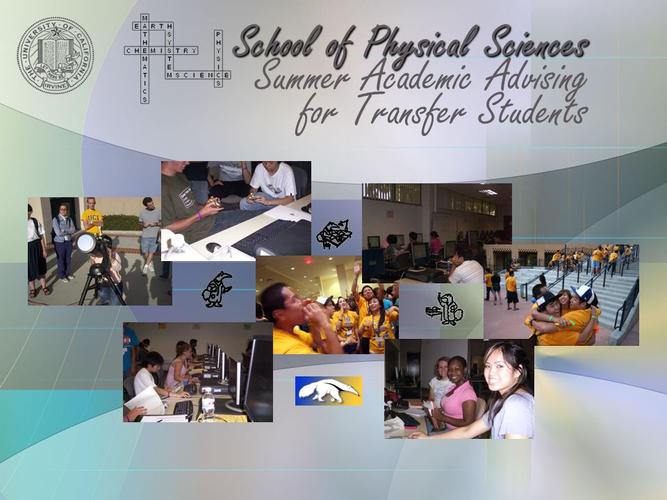 School of Physical Sciences Summer Academic Advising for Transfer Students