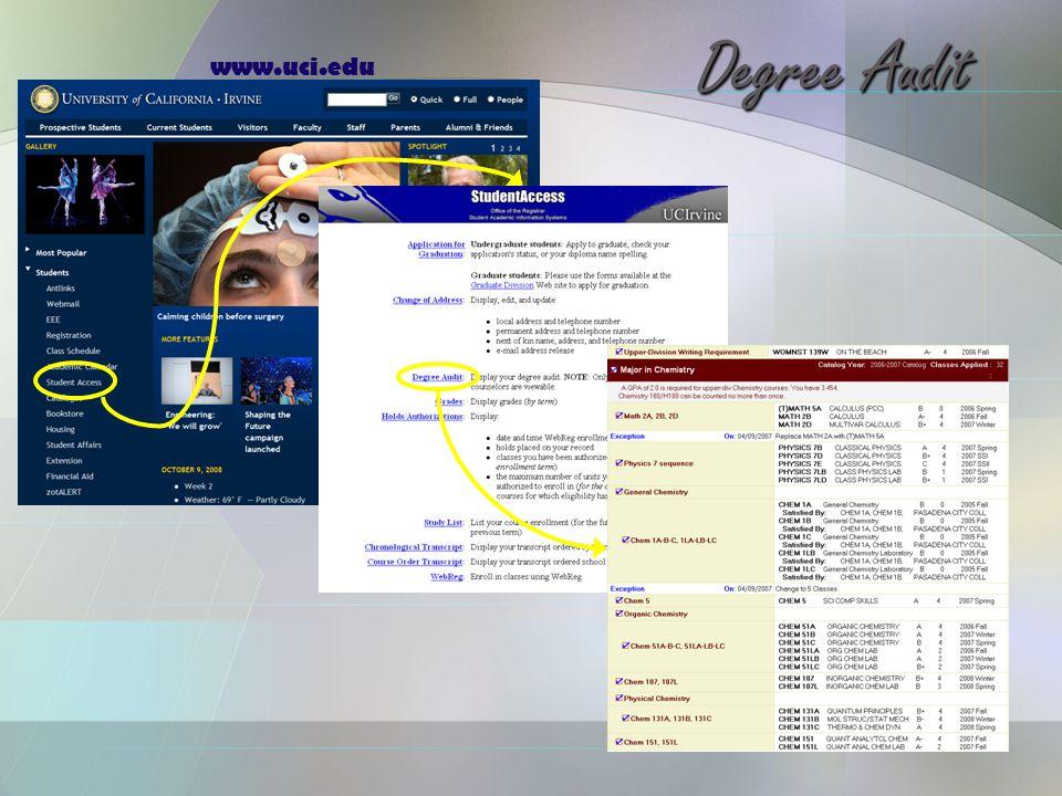 www.uci.edu Degree Audit