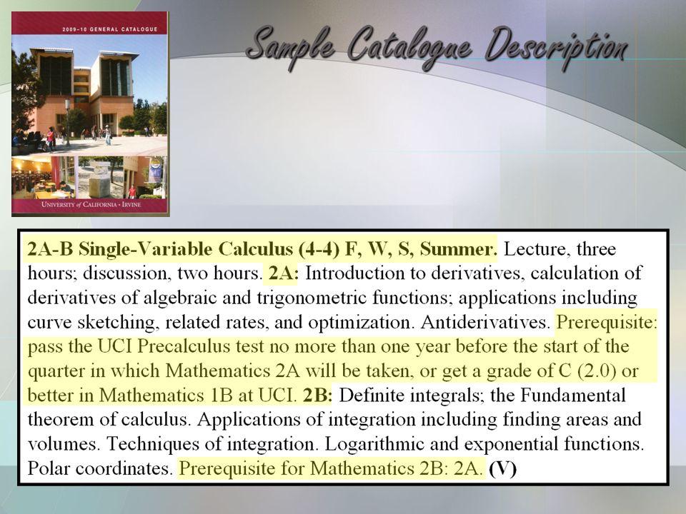 Sample Catalogue Description