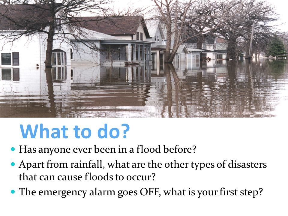 What to do. Has anyone ever been in a flood before.
