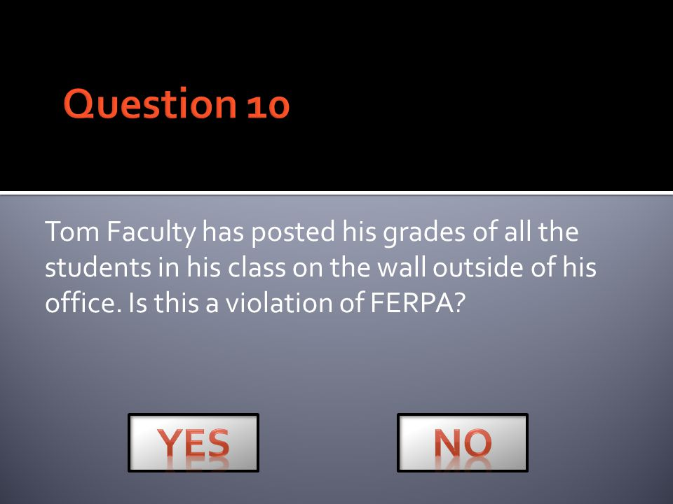 Mineral Area College FERPA Quiz Next