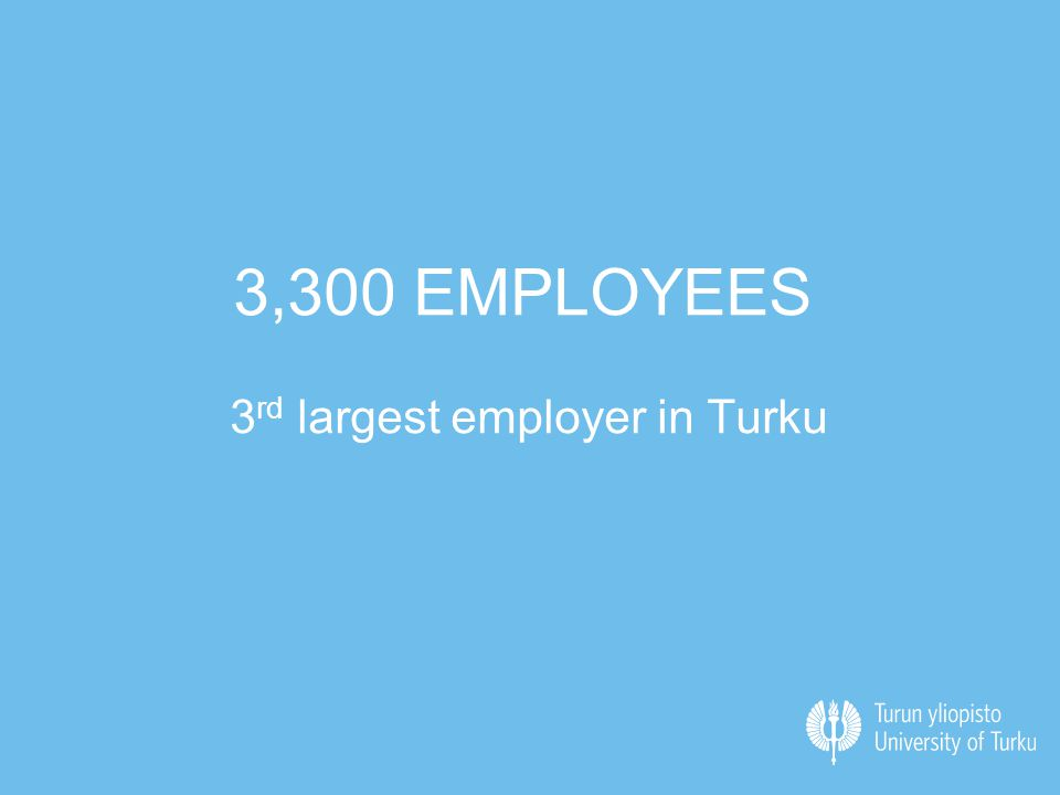 3,300 EMPLOYEES 3 rd largest employer in Turku