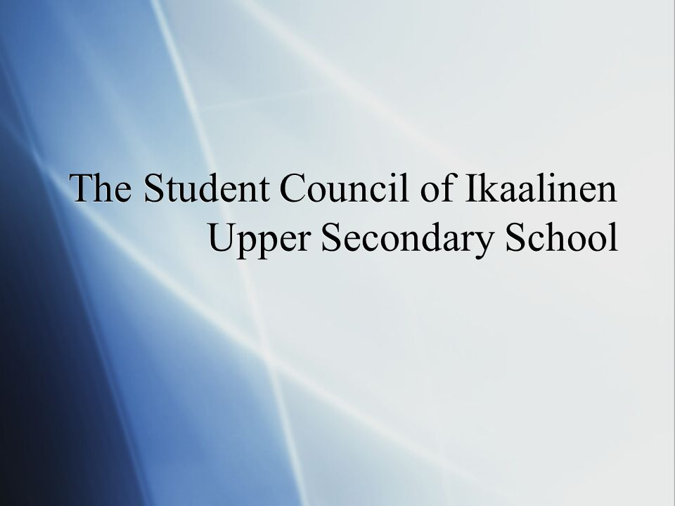 The Student Council of Ikaalinen Upper Secondary School