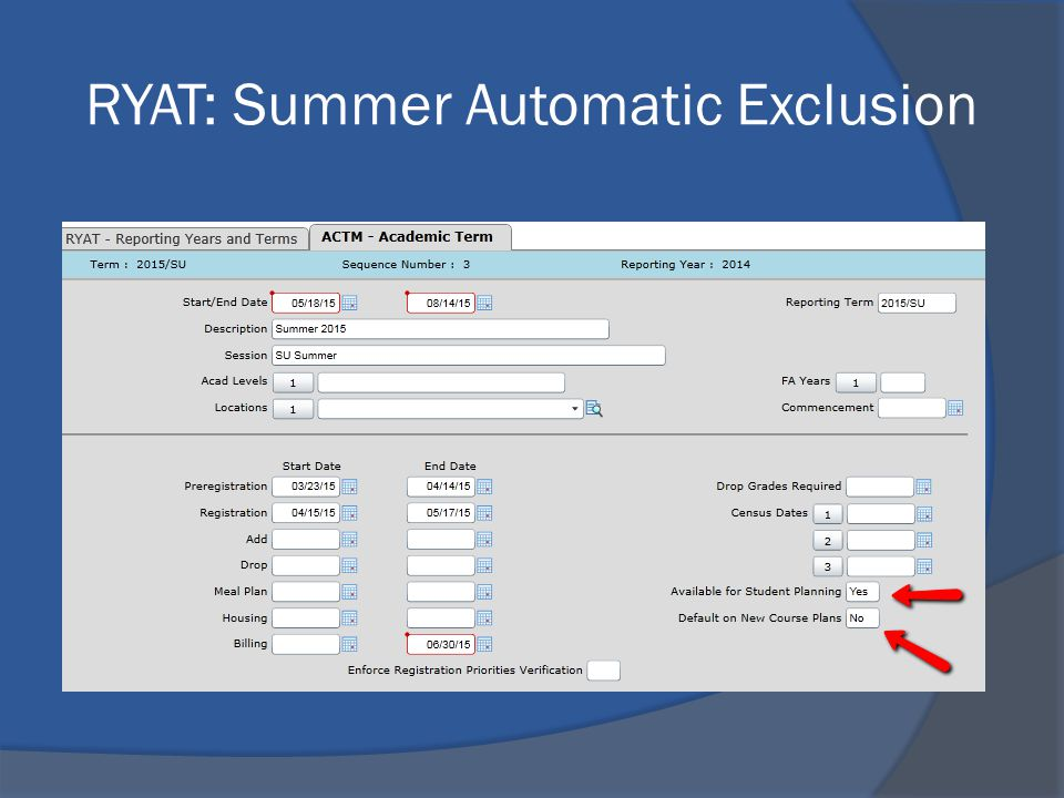 RYAT: Summer Automatic Exclusion