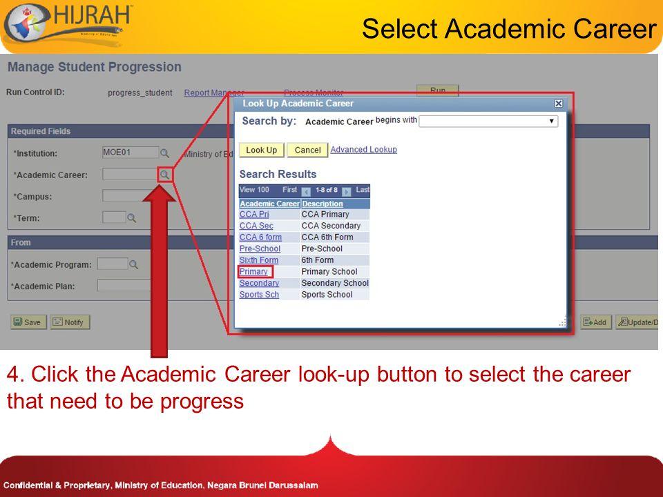 Select Academic Career 4.