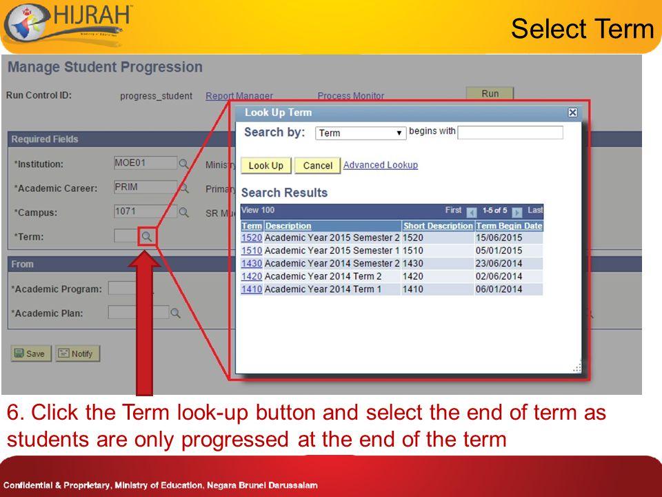 Select Term 6.
