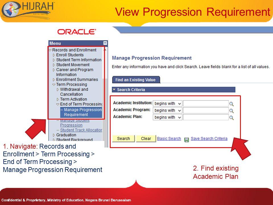 View Progression Requirement 3.