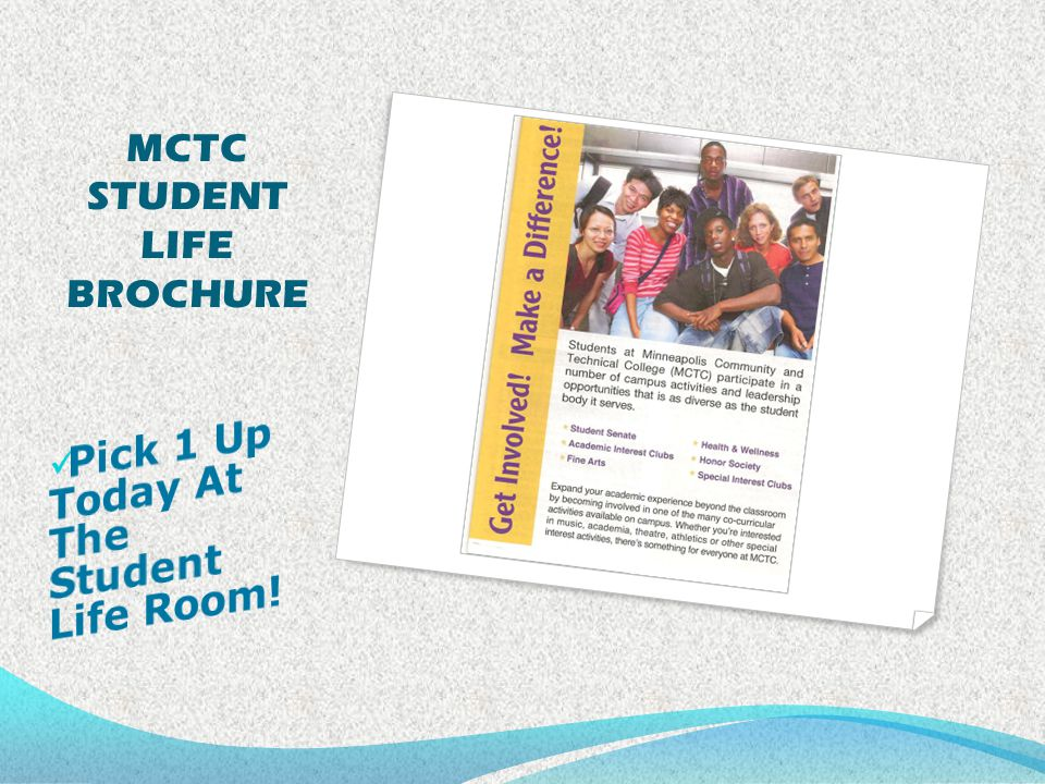 MCTC STUDENT LIFE BROCHURE