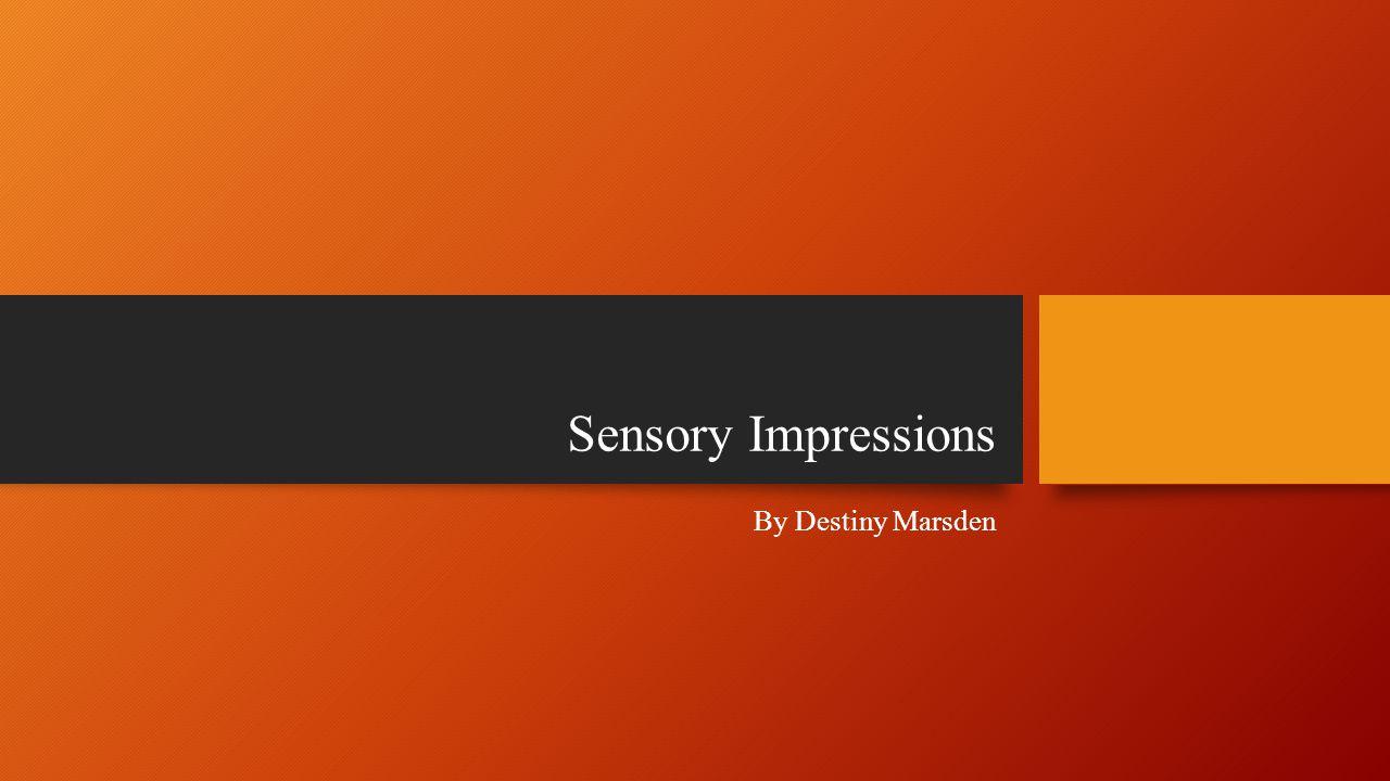 Sensory Impressions By Destiny Marsden