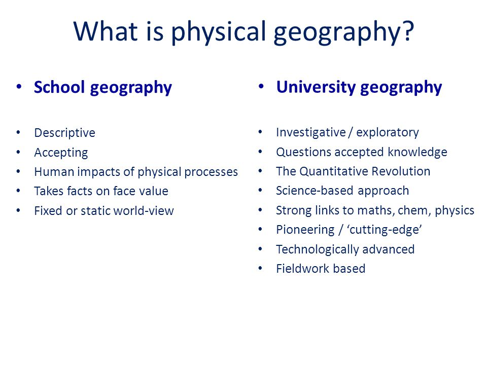 What is physical geography.