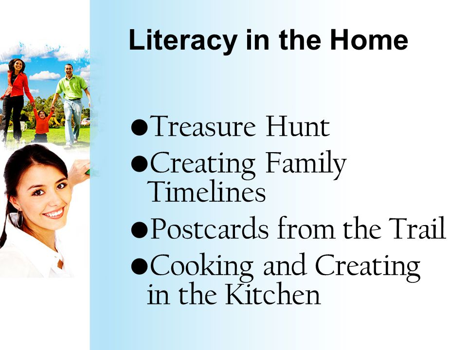 Literacy in the Home https://www.youtube.com/watch v=U4jf CvBP2E4