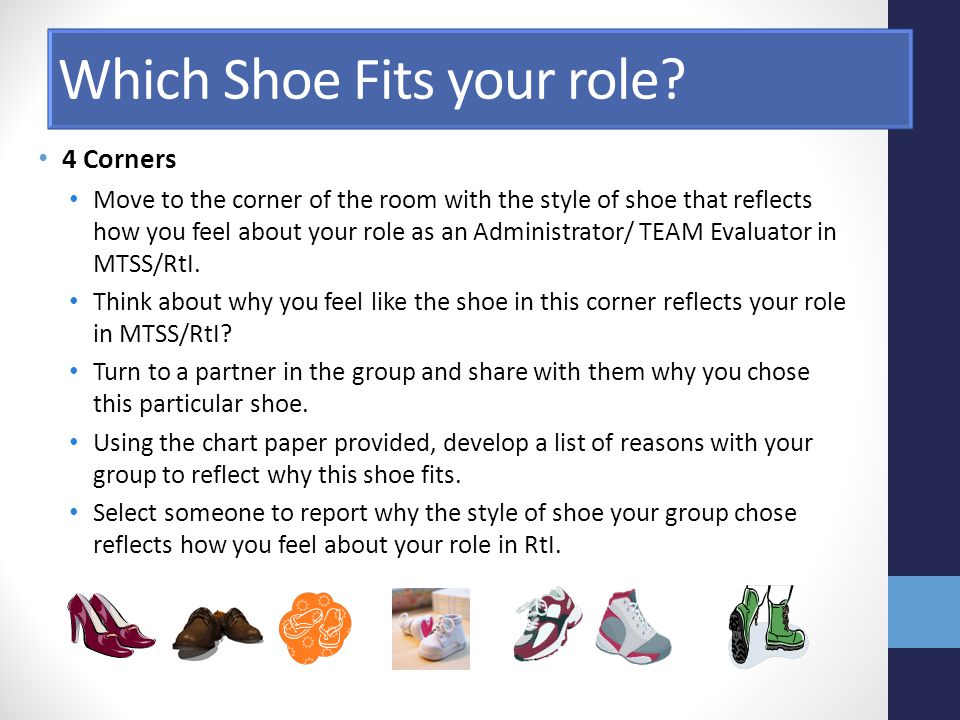 Which Shoe Fits your role.