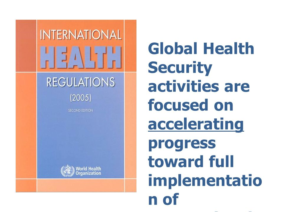 IHR – 5 hazards Infectious disease Zoonosis Food safety Chemical Radio-nuclear