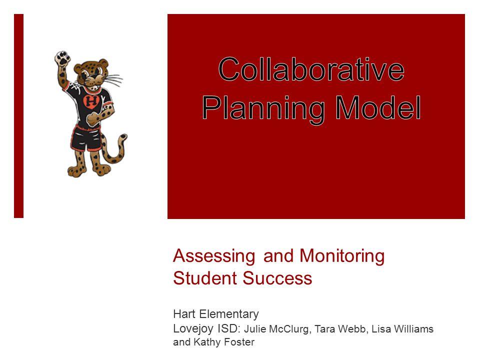 Assessing and Monitoring Student Success Hart Elementary Lovejoy ISD: Julie McClurg, Tara Webb, Lisa Williams and Kathy Foster