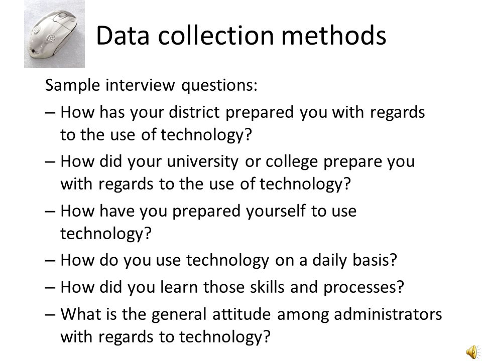 Data analysis strategies Procedures Data managing- Prepare and review data collected Reading and memoing - Code data to identify and highlight themes (no more than 50 codes, some of which may come from the literature) Describing, classifying, interpreting - reduce data to organize and uncover categories, summarize Representing - Articulate theory developed in a narrative generated from themes Visualizing - Develop a visual diagram to illustrate theoretical model