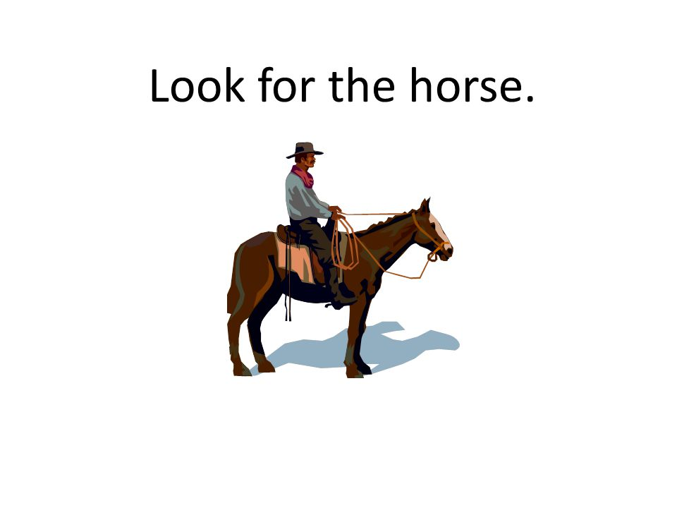 Look for the horse.