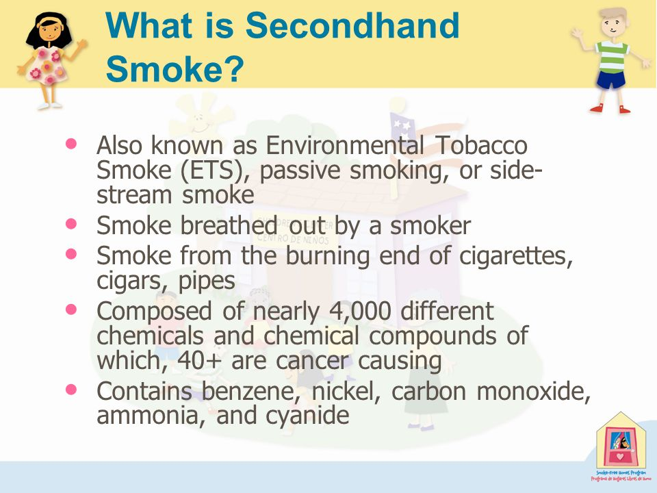 All ETS Exposure: Children Aged 6 and Younger All ETS Exposure: Children Aged 6 and Younger Source: CDC/EPA National Survey on Environmental Management of Asthma and Children s Exposure to Secondhand Smoke, 2003.