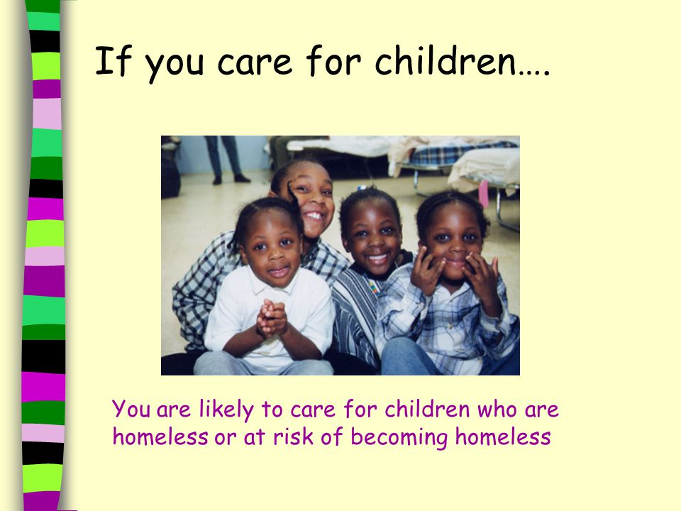 If you care for children….