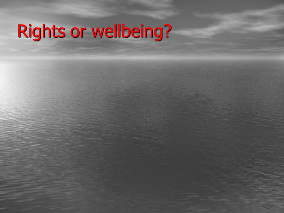 Rights or wellbeing
