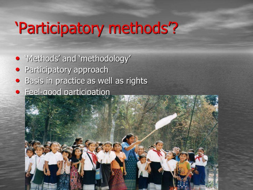 'Participatory methods'.
