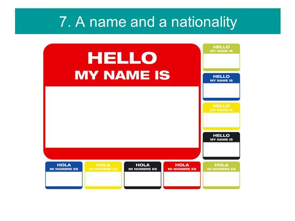 8. An identity – an official record of who I am (birth certificate)