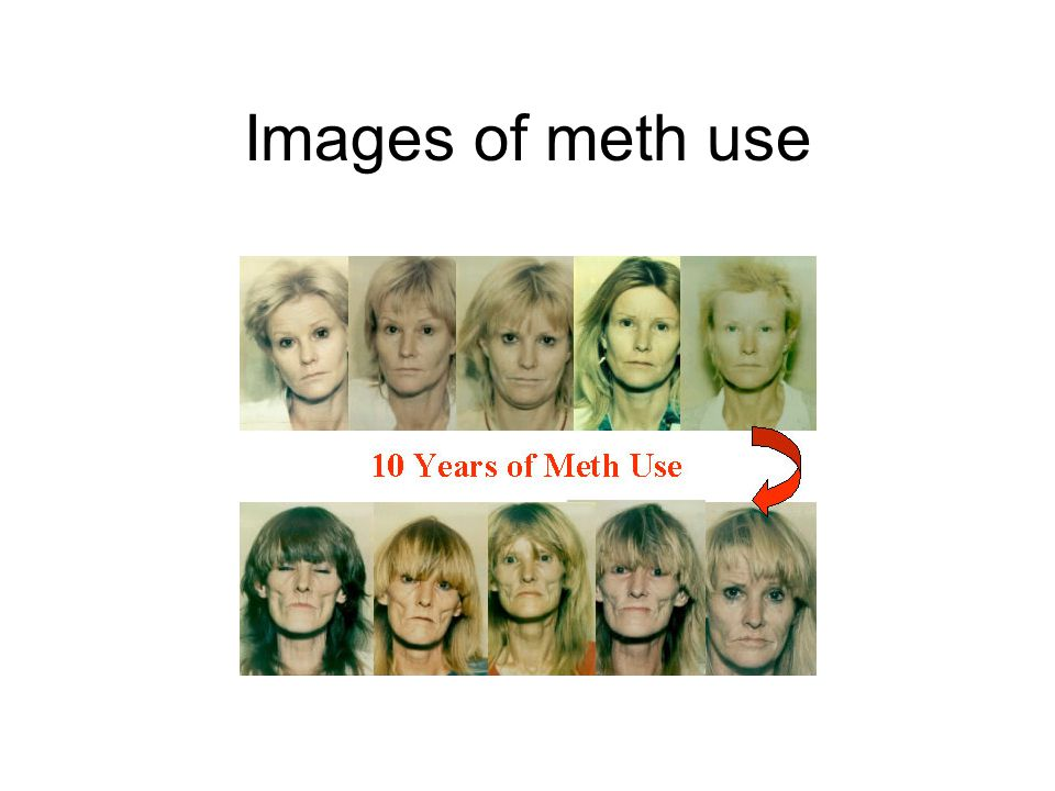 Images of meth use