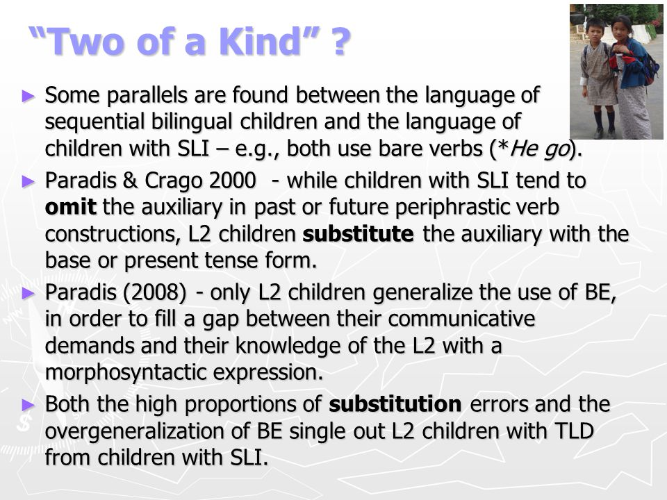 SLI in Hebrew monolinguals Dromi et al.
