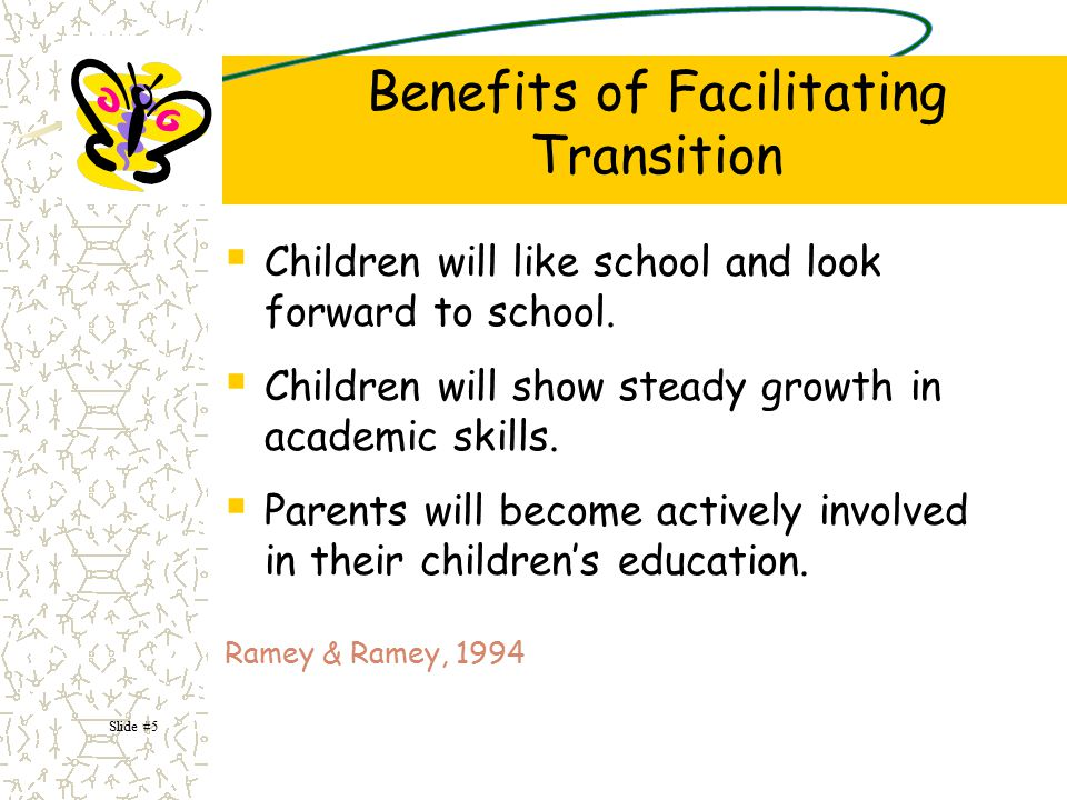 Evaluate Monitor Revise The primary purpose behind evaluation of transition activities is to determine if transition planning is having a positive effect on children and families.