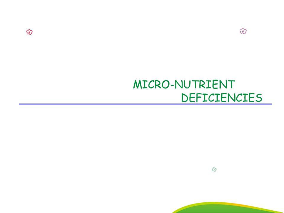 13 MICRO-NUTRIENT DEFICIENCIES
