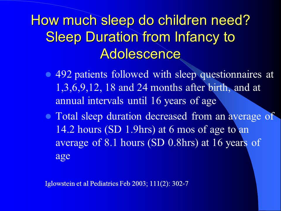 How much sleep do children need.