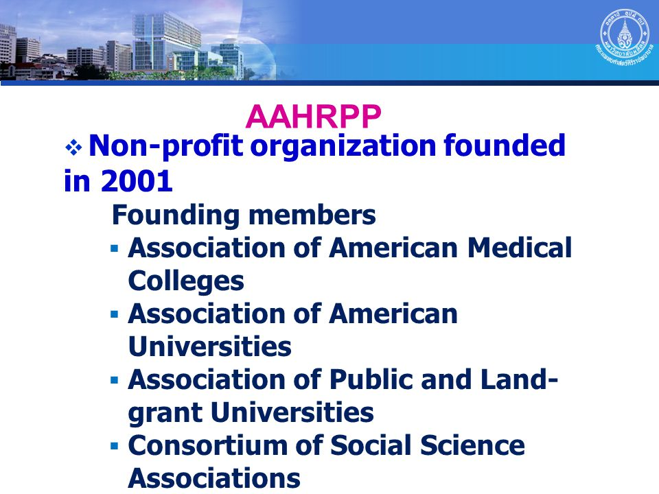  Non-profit organization founded in 2001 Founding members  Association of American Medical Colleges  Association of American Universities  Associa