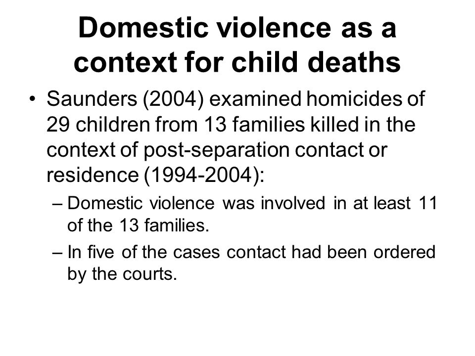 L iving with and witnessing violence Children who witness domestic violence are at increased risk for maladaptation. (Kolbo, Blakely and Engleman 1996