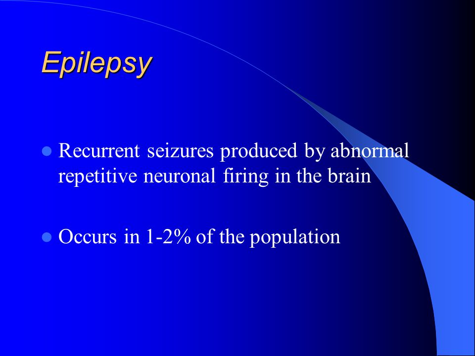 DEFINITION A seizure is a sudden and stereotyped alteration in motor activity, sensation, behavior or consciousness due to an abnormal electrical disc