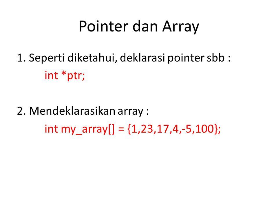 Pointer dan Array 3.