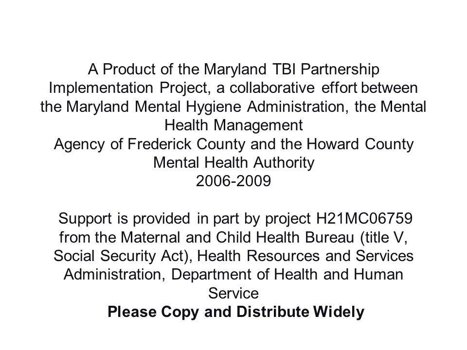 Contact Information Anastasia Edmonston 410-402-8478 aedmonston@dhmh.state.md.us Thank you!