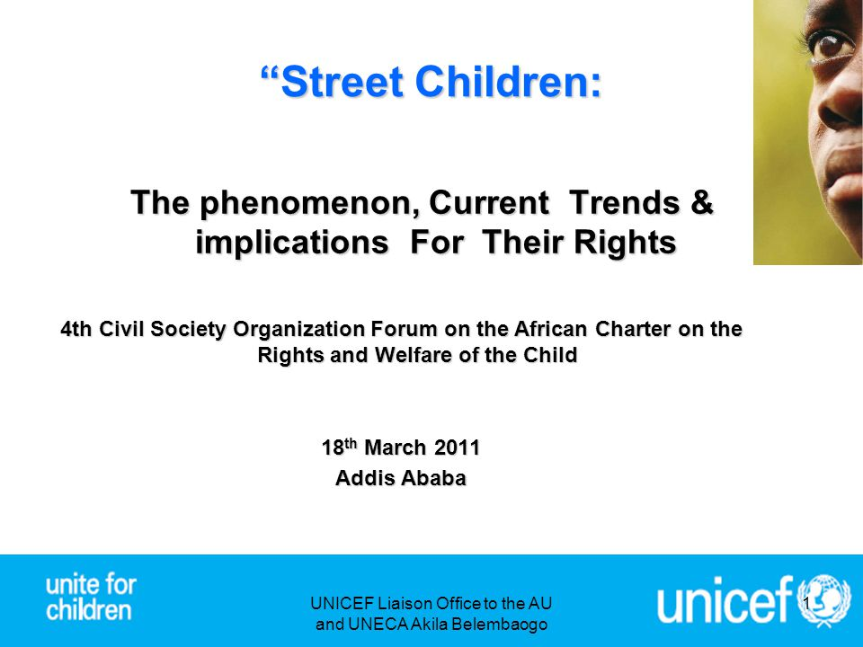 """""""Street Children: The phenomenon, Current Trends & implications For Their Rights 4th Civil Society Organization Forum on the African Charter on the Ri"""