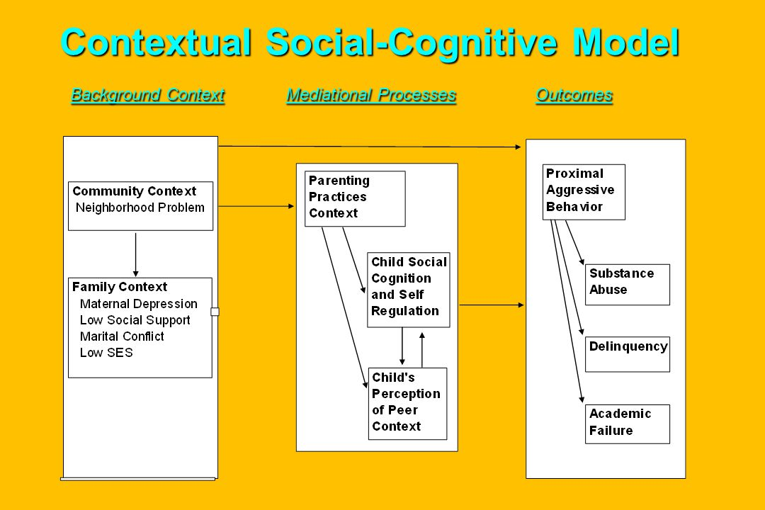 Contextual Social-Cognitive Model Background Context Mediational Processes Outcomes Contextual Social-Cognitive Model Background Context Mediational Processes Outcomes