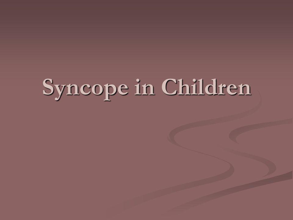 Syncope in Children