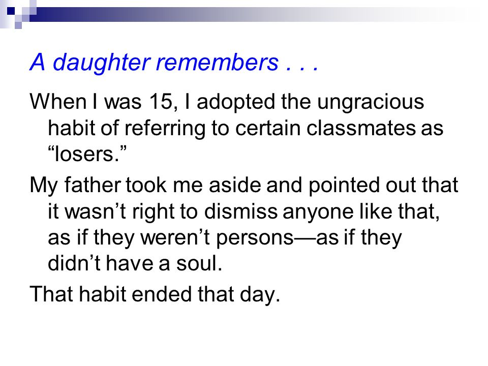 A daughter remembers...