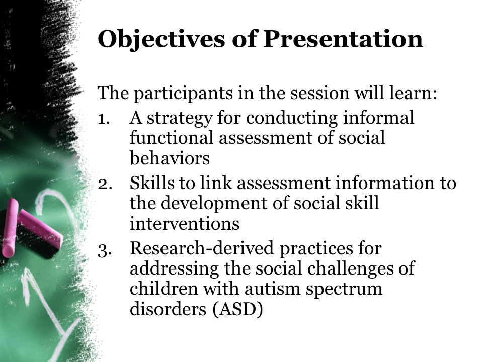 A Functional Approach to Social Skills Intervention for Young Students with Autism in Inclusive Settings Maureen A.