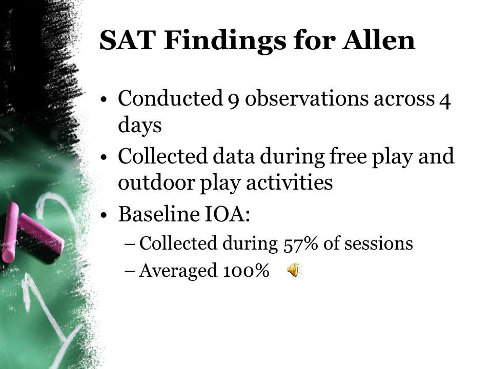 Completed SAT for Allen