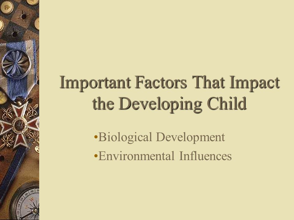 Important Factors That Impact the Developing Child Biological Development Environmental Influences