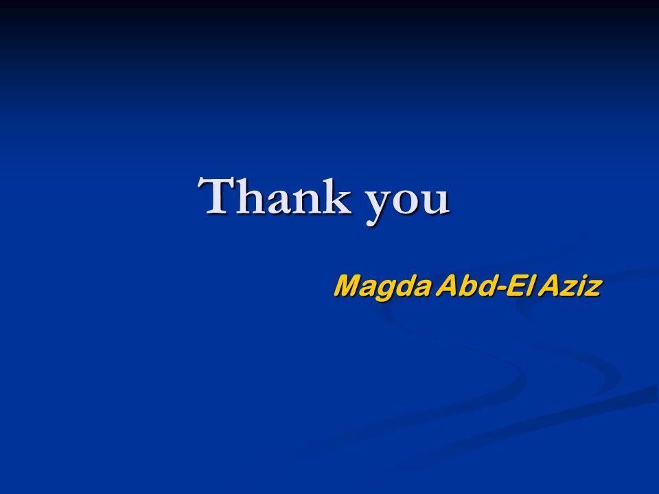 Thank you Magda Abd-El Aziz