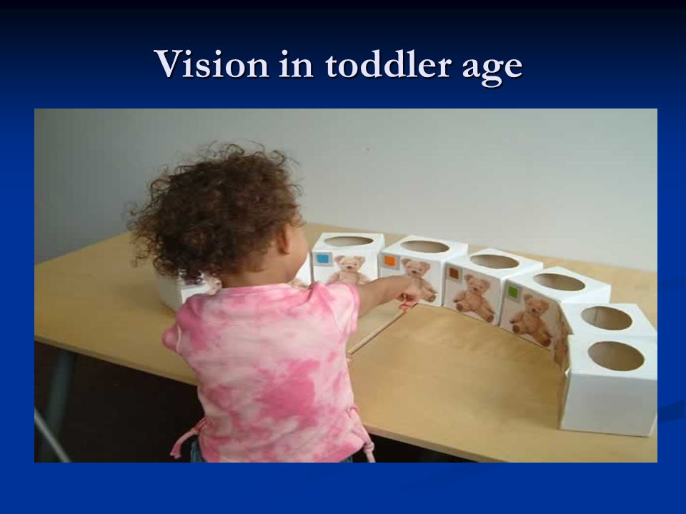 Vision in toddler age